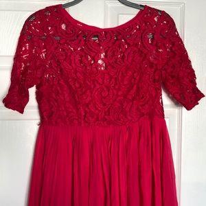 MoMo Maternity Dress - Fuchsia Color